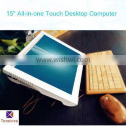 15''All in one Desktop computer with touch screen