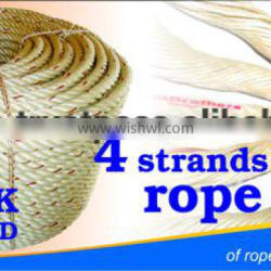 PP / Polypropylene braided rope 4 strands diameter 4.0mm to 60mm