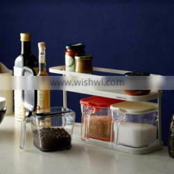 Functional stylish plastic food container for kitchen spice rack