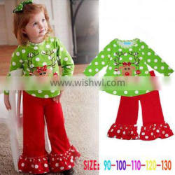New design wholesale clothing two-piece set christmas style girl clothes set TR-CA15