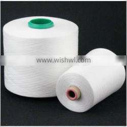 High tenacity 60/2 Bleached White100% spun polyester sewing thread