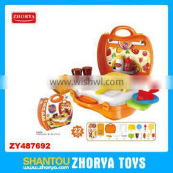 Zhorya 22PCS Wholesale kids kitchen bbq play set multi-function baby toys modern kitchen toy set western kitchen play sets