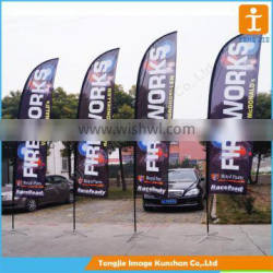 5M high advertising beach flag for outdoor use