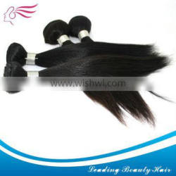 Wholesale natural wave virgin/remy Indian hair weft/weaving