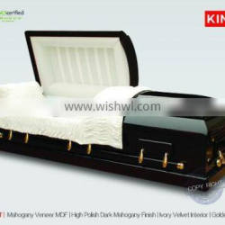 PRESIDENT sealed casket mortuary to with pine casket