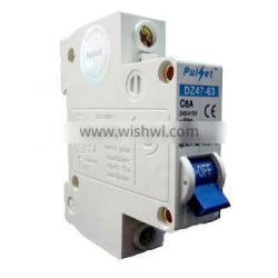 MCB6 1P DZ47 MCB, MINI CIRCUIT BREAKER