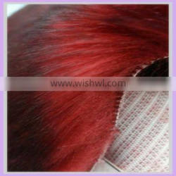 100% acrylic faux fur textile fabric for clothing tip print red