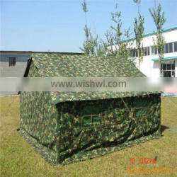 Camouflage water and heat resistant fabric tent tarpaulin