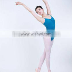 D031011 Ballet leotard girls gymnastics leotards cotton spandex camisole with pinch front and low back