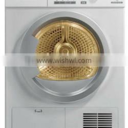 Electronic control clothes dryer with front lint filter