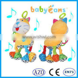 babyfans Funny Plush Cat Toys High Quality Baby Musical Hanging Toys Baby Toys 2015 babies toys