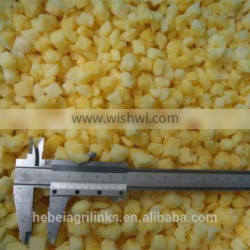 Frozen style high quality fresh pineapple cubes