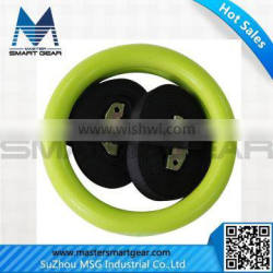 Crossfit Equipments Nylon Strap Colourful ABS Gym Ring