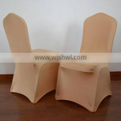 Gold shiny spandex banquet chair cover for sale