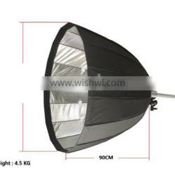 CONONMARK 120CM parabolic Softbox for photolight with mount comet