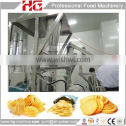 HG full automatic baked corrugated potato crisps making machine