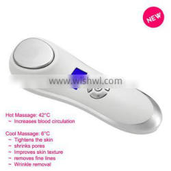 Korea and Japan new heat vibration beauty machine with Top quality latest handheld for facial cleanser oily skin
