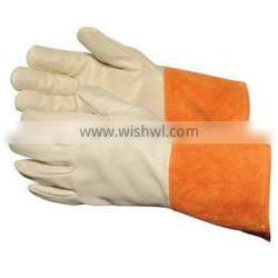 2009 cow split leather gloves/cow crust leather gloves/Cow split leather safety welding gloves