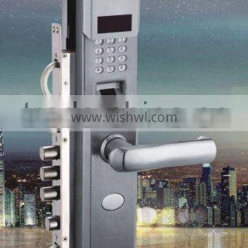 2016 best products electronic lock finger print password lock SS304 high quality voice navigation with the keys