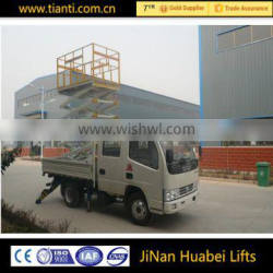 Mini scissor lift table fixed hydraulic freight elevator used for urban construction
