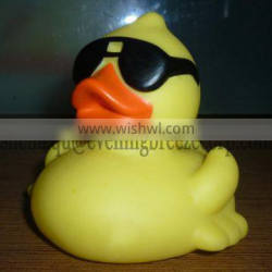 wholesale weighted rubber duck with sunglasses , derby race duck with glasses,weighted floating rubber duck