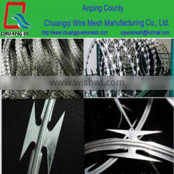 security barbed wire/ safety razor wire(manufacturer,top quality, factory price)