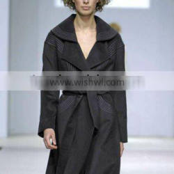 momen's fashion wool cashmere wind coat 084