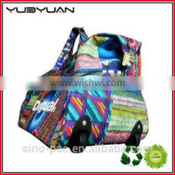 2016 New designer fancy Polyester Traveling Bag with wheels
