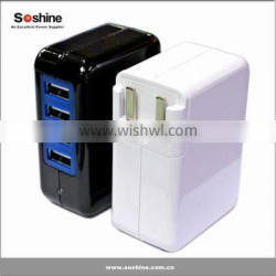 New product Soshine Power 4-USB 3.1A 15w Travel Wall Charger usb travel charger 4 port usb charger
