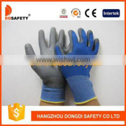 Nylon Polyster Liner With PU Coated On Plam And Fingers