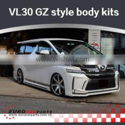 VF30 body kits fit for Vell-fire 2014year up to 2016year Glan Zen style FRP full set