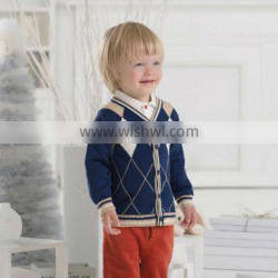 DB1189 dave bella 2014 autumn toddlers sweater infant clothes children cardigan kids children sweater clothes baby cardigan boy