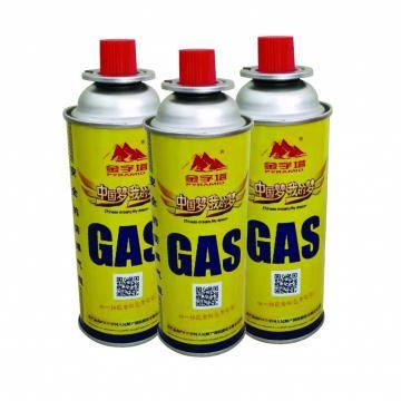 Aerosol Can Empty Camping Refill Butane Gas Cartridge Canister with Valve and Cap