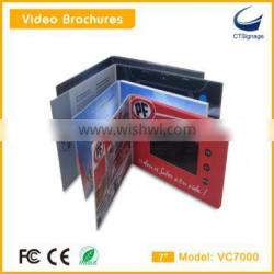 Factory wholesale 7 inch lcd video brochure