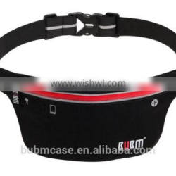 Black HOT Fashionable BUBM Outdoor Sport Waist Bag Shenzhen Resilient Wholesale Waterproof and Breathable Running Waist Bags