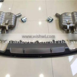 HOT SALE!! S7 style rear diffuser with exhaust muffler for Audi A7 2016
