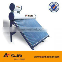 Exclusive design Pre-heated pressurized solar water heater with assistant tank