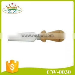 Hot selling rubber wood handle cheese knife