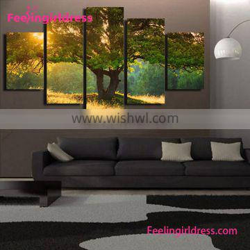 Beautiful Scenic Tree 3D Wholesale Wall Oil Canvas Paintings