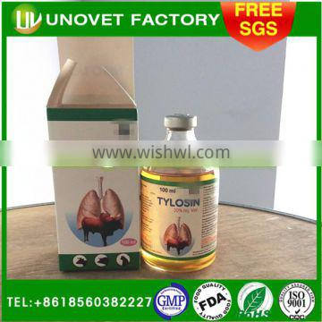 for fowl 5% Tylosin Tartrate Injection /GMP Pharmaceutical manufacturer