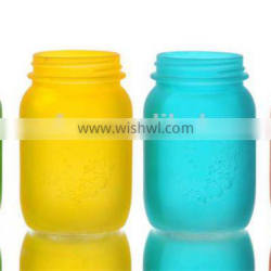 Three Sizes Frosted Colored Glass Vases