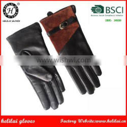 HELILAI Brand Fashion Leather Gloves Manufacture in China With Cheap Price