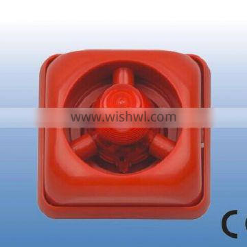 Red ABS/PC Fire alarm fire siren and flasher