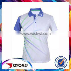 Custom your own design dry fit 100% polyester golf wear, hot sale in Spain