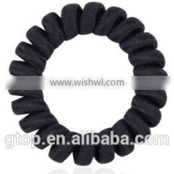 Rubber Band multi color elastic stretchy quality cheap women telephone wire hair circle
