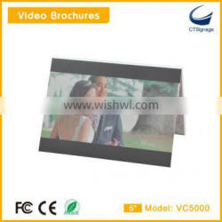 5 inch video brochure new arrival for advertise player for advertise player,lcd video player for education gift for parents