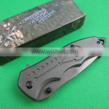 OEM titanium surface folding knife with 5CR13MOV blades