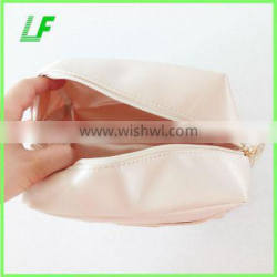 Hot sale high-capacity pure color cosmetic bag for lady