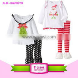 Christmas clothes for babies wholesale children's boutique clothing christmas children outfit Quality Choice