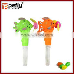 Clear tube plastic candy containers with toys fan